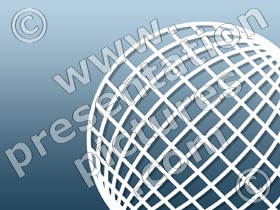 corner globe - powerpoint graphics