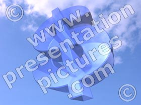 dollar sign in the sky - powerpoint graphics