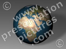 earth globe africa - powerpoint graphics