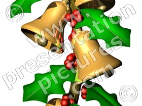 holly decorations - powerpoint pictures