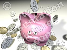 piggy bank front - powerpoint graphics