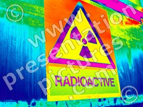 sign radioactive - powerpoint graphics